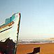 Sidi Kaouki - La plage et les bateaux de p?che au matin. (Ph. Tris)