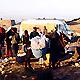 Sidi Kaouki - Le dance-floor et encore l ane avec ses sacs de pains au chocolat sur le dos... (Ph. Tris)
